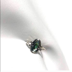 925 Sterling Silver Abalone Ring